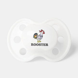 boy rooster yeah baby pacifiers