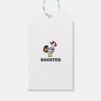 boy rooster yeah gift tags
