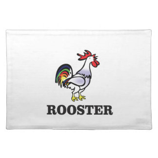boy rooster yeah placemat