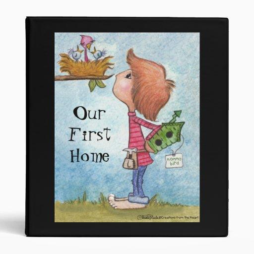 Boy's Birdhouse Gift-Home Tweet Home Vinyl Binder