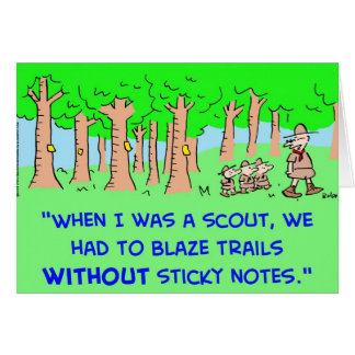 BOY SCOUTS BLAZE TRAIL STICKY NOTES