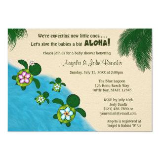 BOY Sea TURTLE Baby Shower Invite TWIN (Honu) 02D