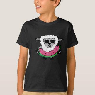 Boy Sheep Eating Watermelon T-Shirt