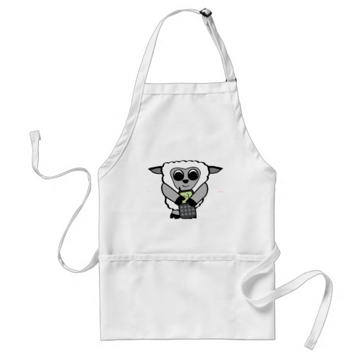 Boy Sheep with Cell Phone Aprons