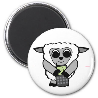 Boy Sheep with Cell Phone Magnets