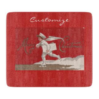 Boy Skating Vintage Thunder_Cove Christmas Cutting Board