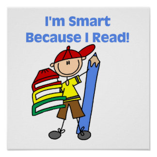 Boy Smart Because I Read Poster