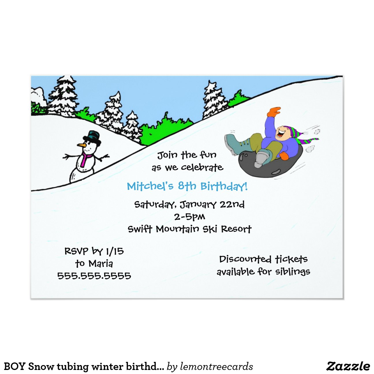 Snow Tubing Invitations as Beautiful Design To Create Lovely Invitations Sample