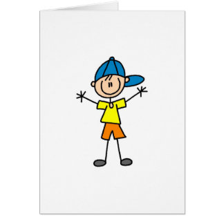 Boy Stick Figure Card