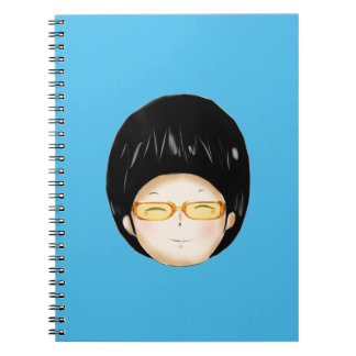Boy sunglass spiral note book