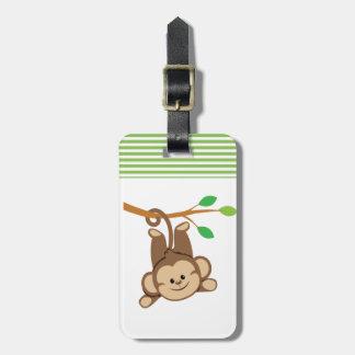 Boy Swinging Monkey Luggage Tag