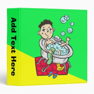 Boy Taking Bath 3 Ring Binders
