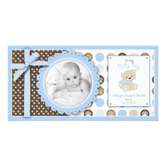 Boy Teddy Bear Photo Card