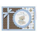 Boy Teddy Bear Thank You Card Greeting Card