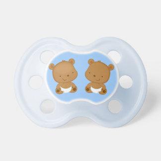 Boy Twins Baby Bear Pacifier