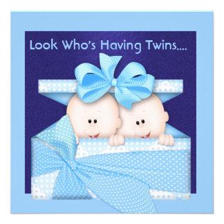 BOY TWINS BABY SHOWER INVITATION