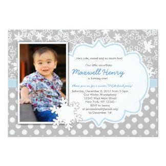 Boy Winter Wonderland Birthday Party Invitation