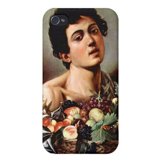 Boy with a Basket of Fruit, Caravaggio Cover For iPhone 4