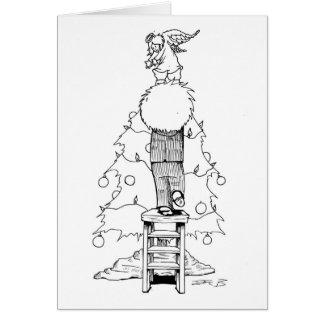 Boy with a Christmas Angel Card