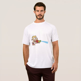 Boy With A Super Soaker Mens Active Tee