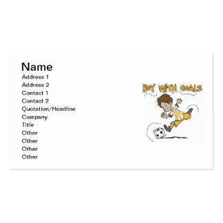 Boy With Goals T-shirts and Gifts Business Cards