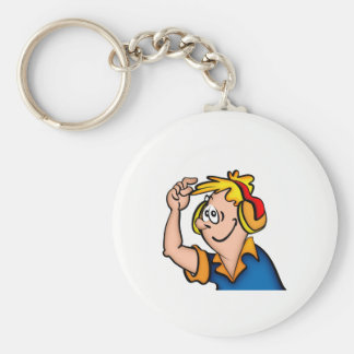 Boy With Headphone Keychain