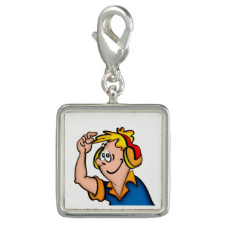 Boy With Headphone Photo Charm