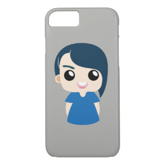 boy with long hair iPhone 7 case