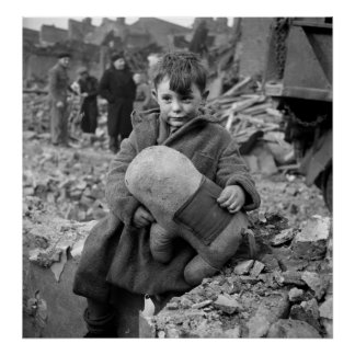 Boy with Stuffed Animal, 1945 Poster