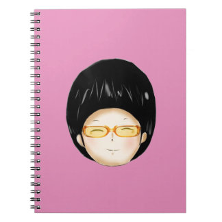 Boy with sunglass note books