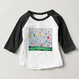 Boy with the balloons baby T-Shirt