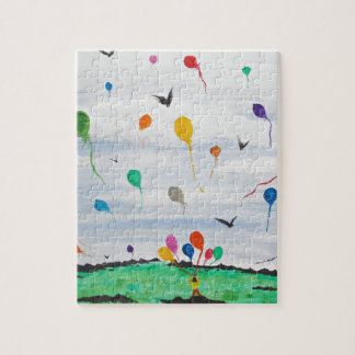 Boy with the balloons jigsaw puzzle