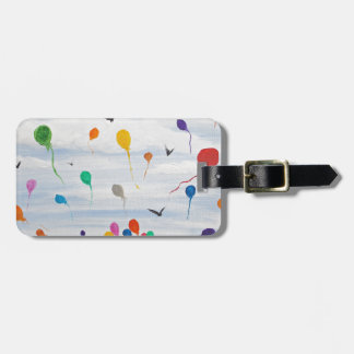 Boy with the balloons luggage tag