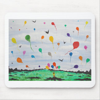 Boy with the balloons mouse pad