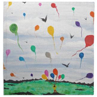 Boy with the balloons napkin