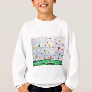 Boy with the balloons sweatshirt
