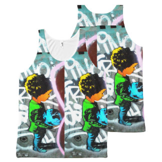 Boy with the Earth Tank Top Protest Street Art