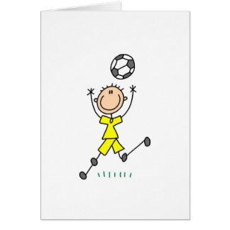 Boy Yellow Soccer Uniform Card