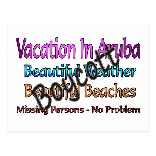 Boycott Aruba Post Cards