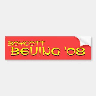 Boycott, Boycott, Beijing '08, Beijing '08 Bumper Sticker