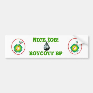 Boycott BP Bumper Sticker