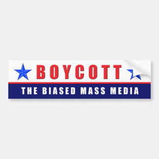 Boycott Media Bumper Sticker