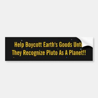 Boycott Pluto Bumper Sticker