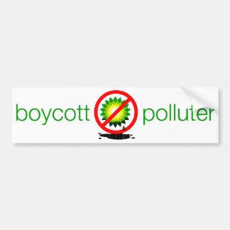 boycott polluter bumper sticker