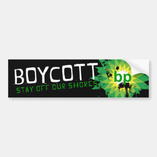 Boycott_stay Off Our Shore Bumper Sticker