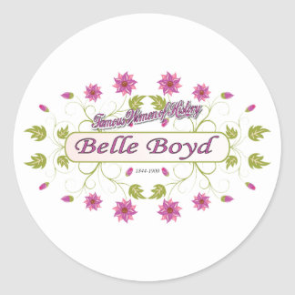 Boyd ~ Belle Boyd ~ Famous American Women Classic Round Sticker