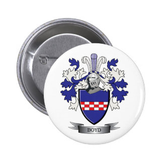 Boyd Family Crest Coat of Arms 2 Inch Round Button
