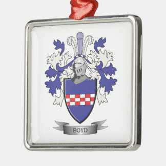 Boyd Family Crest Coat of Arms Metal Ornament