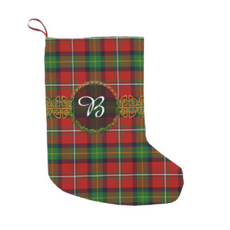 Boyd Tartan And Monogram Small Christmas Stocking