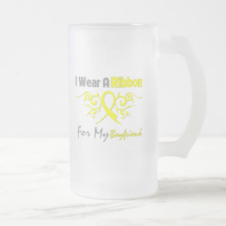 Boyfriend - I Wear A Yellow Ribbon Military Suppor Frosted Glass Beer Mug